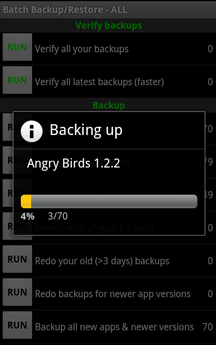 Backup on Android