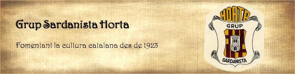 Grup Sardanista Horta - Fomentant la cultura des de 1923