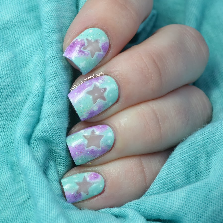 Pink & Polished: Pastel Negative SPACE Nails With Tutorial