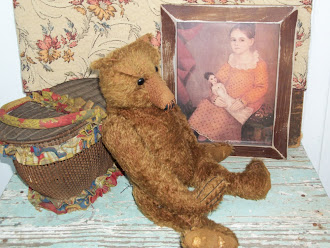Early Easter Basket and Mohair Bear