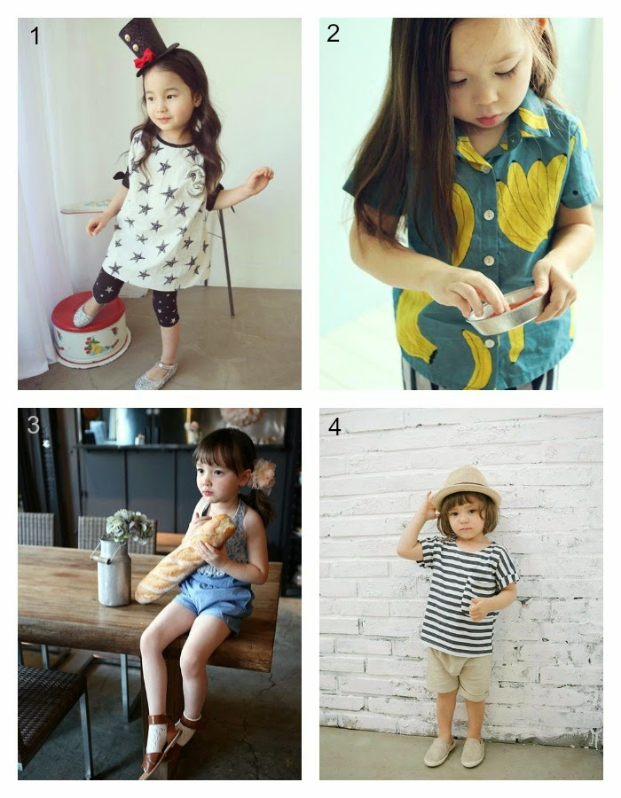 1) Lila  2) Ae-hem  3) Estell  4) Roybins - Jujubunnyshop spring 2014 kids fashion collection