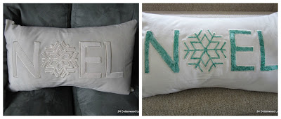 diy Christmas pillow upcycle with fabric paint