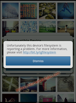 Instagram Error Dismiss