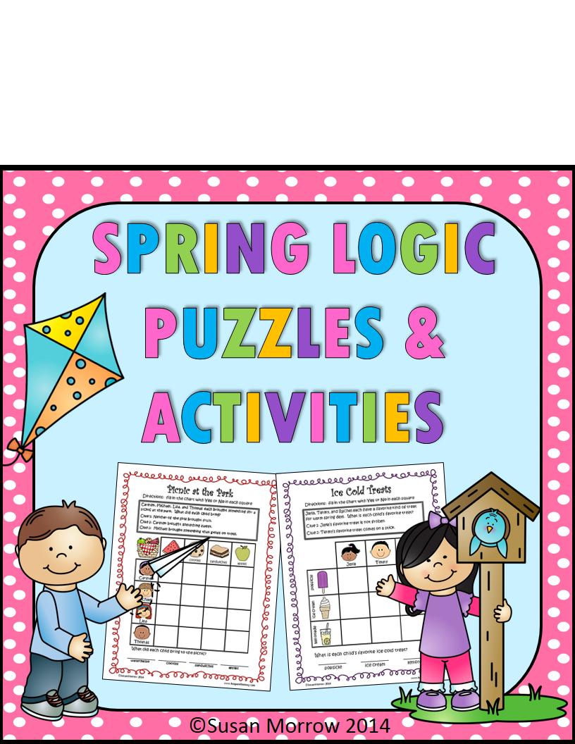 https://www.teacherspayteachers.com/Product/54-Logic-puzzles-Gr-1-3-Spring-Theme-color-bw-617107