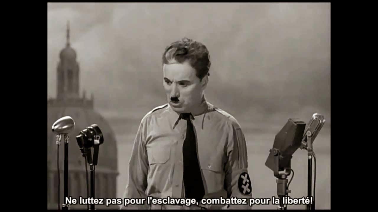 Discours final du dictateur de Charlie Chaplin (1940)