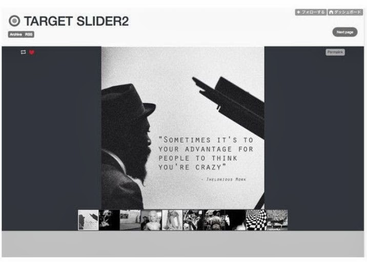 TARGET SLIDER2 Free Tumblr Theme