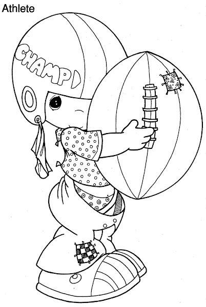 Precious Moments Football Coloring Pages