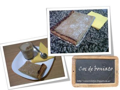 Boniato batata coc cómo preparar horno postre dulce azúcar