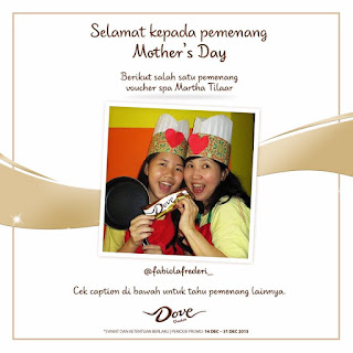 Info Pemenang - Pengumuman Pemenang Dove Chocolate Mother's Day Competition