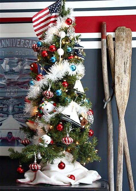 nautical mini christmas tree
