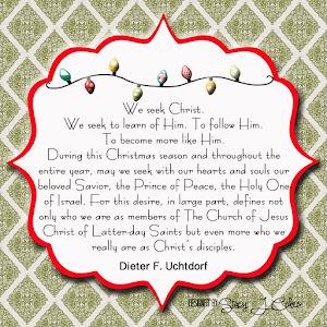December Home Teaching Handout