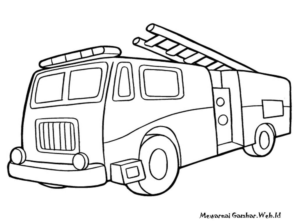 Fire Engine Coloring Pages Fire Free Engine Image For