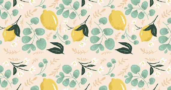 Aesthetic Oiseau: Lemons Removable Wallpaper