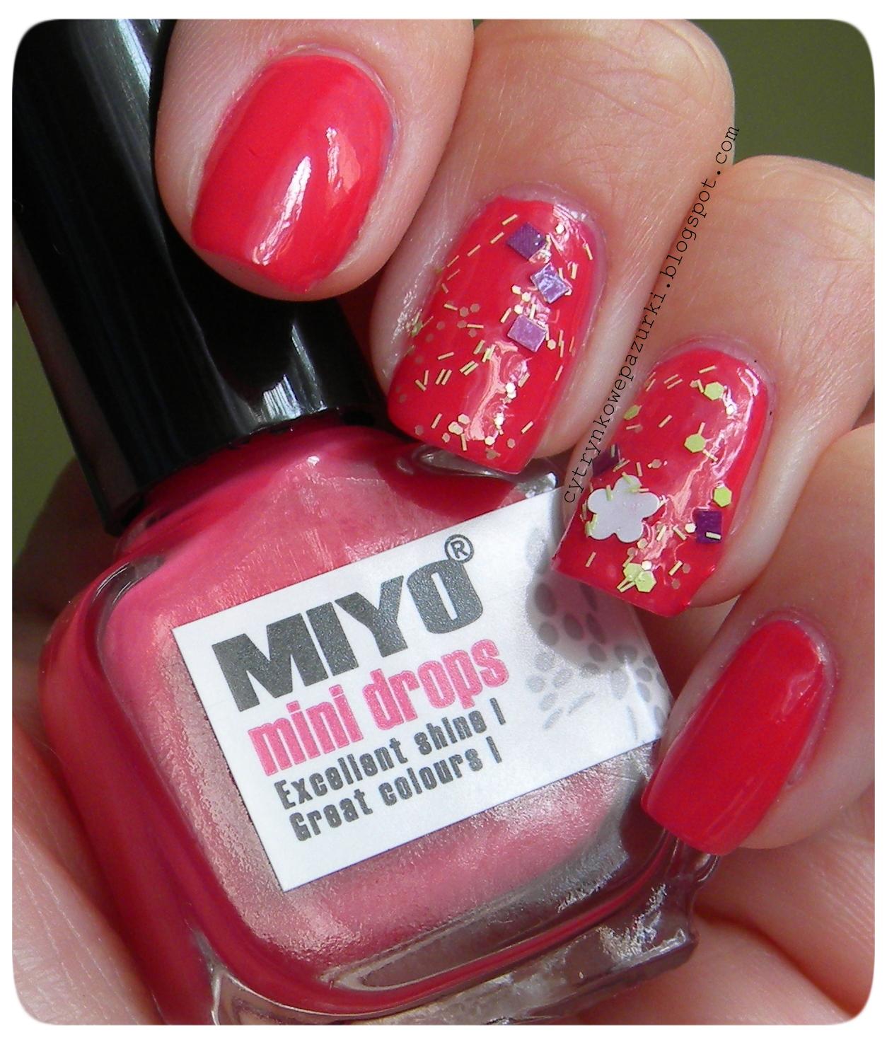 Poniedziałki z Miyo Mini Drops 166 Indianred i GR Carnival 26