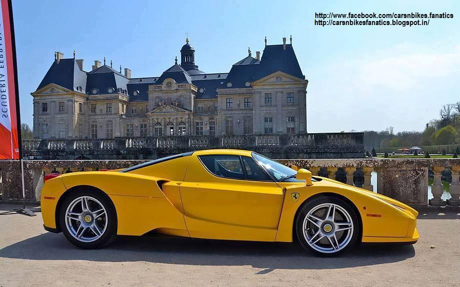 Car & Bike Fanatics: Yellow Ferrari Enzo