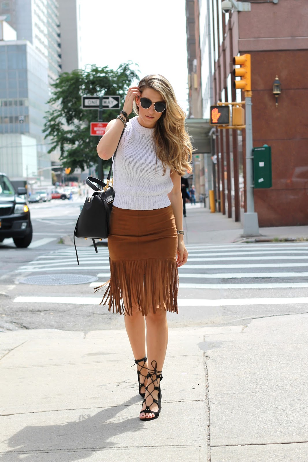 camel fringe skirt, fringe skirt outfits, dressed for dreams