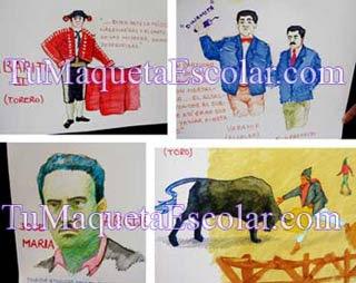 Ilustraciones a mano alzada de la obra Yawar Fiesta