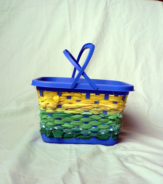 No Sew Scrap Fabric Basket craft