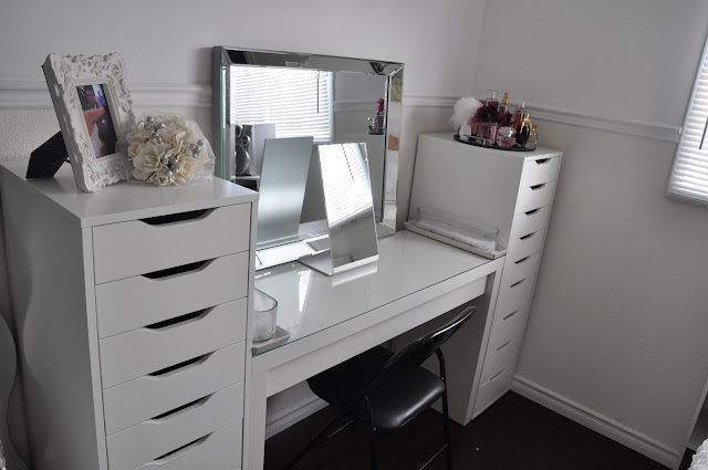 Makeup By Cheryl IKEA Vanity Redecoration And Makeup Storage
