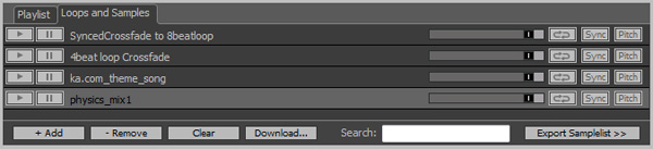 Zulu D J Mixing Software Loop and Sample Bank