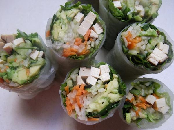 rice paper salad rolls
