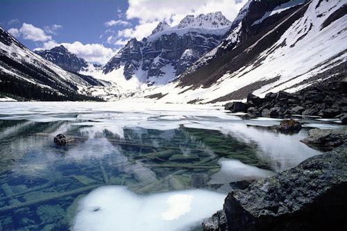 Hermoso lago durante el invierno - Amazing lake