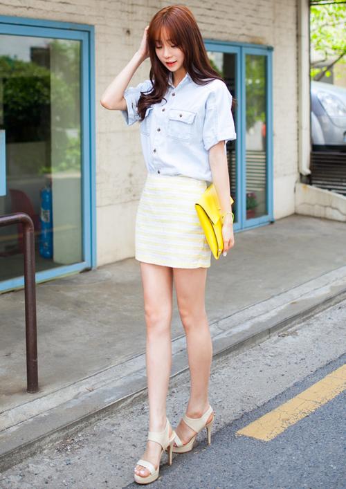 [2fb] Striped Mini Skirt