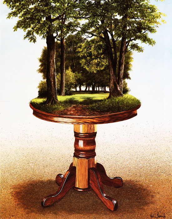 14-The-Oakwood-Table-Neil-Simone-Surreal-Paintings-and-Optical-Illusions-www-designstack-co