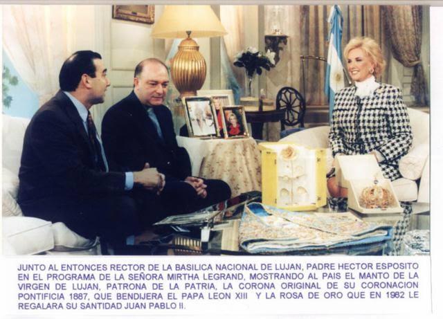 HOMENAJE A LA VIRGEN DE LUJÁN EN EL DÍA DE SU SOLEMNIDAD, 8 DE MAYO DE 1998 - CANAL 9 - BS. AS.