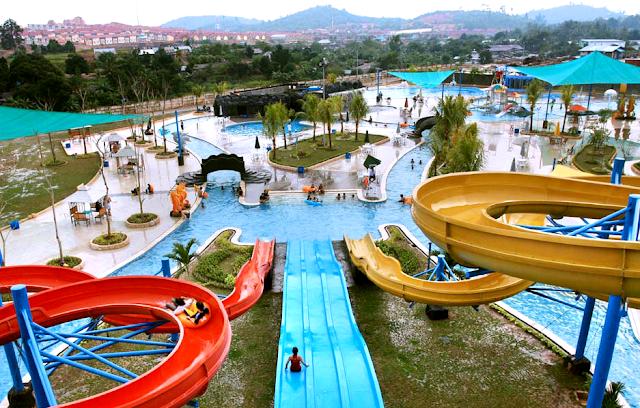 Tempat Wisata Batam : Water Park Top 100 Batu Aji