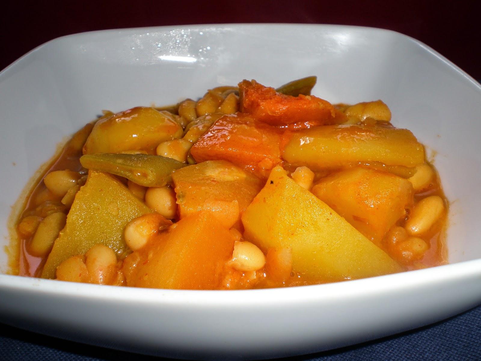 La cocinera novata potaje de calabaza y jud as - Potaje de garbanzos y judias ...