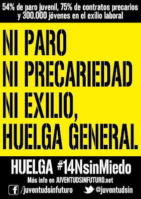 Madrid - Comunicato di Juventud sin futuro: 14 de Noviembre Huelga General [ESP]