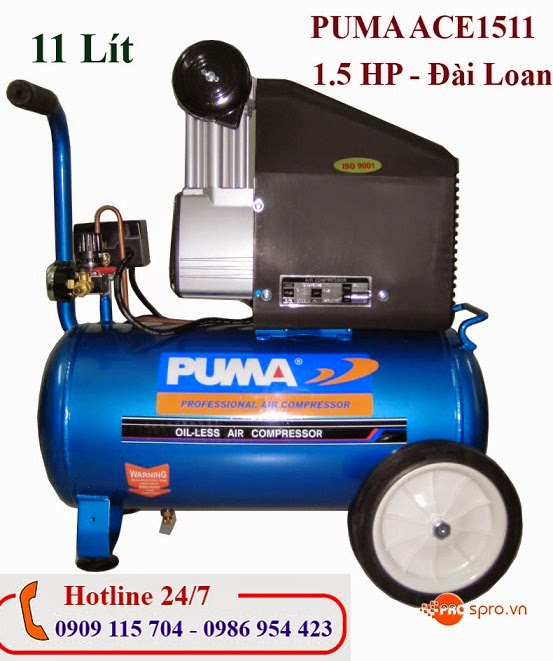 Máy nén khí Mini 1.5HP PUMA ACE1511 Bình chứa  11 Lít