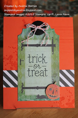 Halloween card with a tag from the Haunted Tag Pad (K&Company) as the focal image.