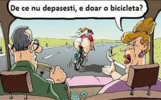 De ce nu depasea soferul pe biciclista