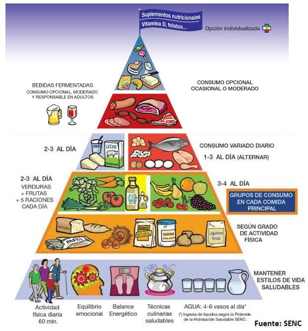 Resultado de imagen de nueva piramide alimenticia 2017 SENC