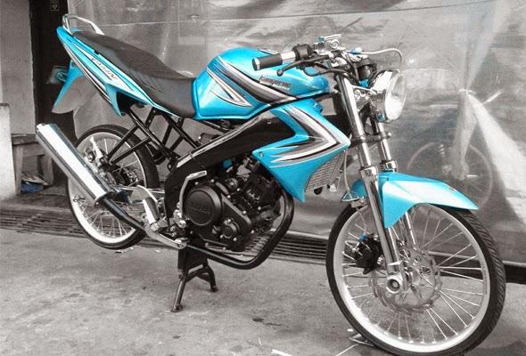 Foto Yamaha New Vixion Warna Biru