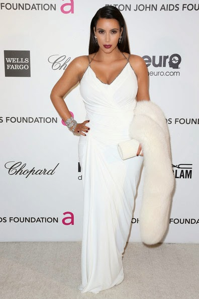 kim kardashian white evening dress