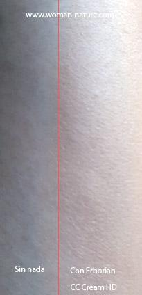 CC Cream HD Erborian swatches