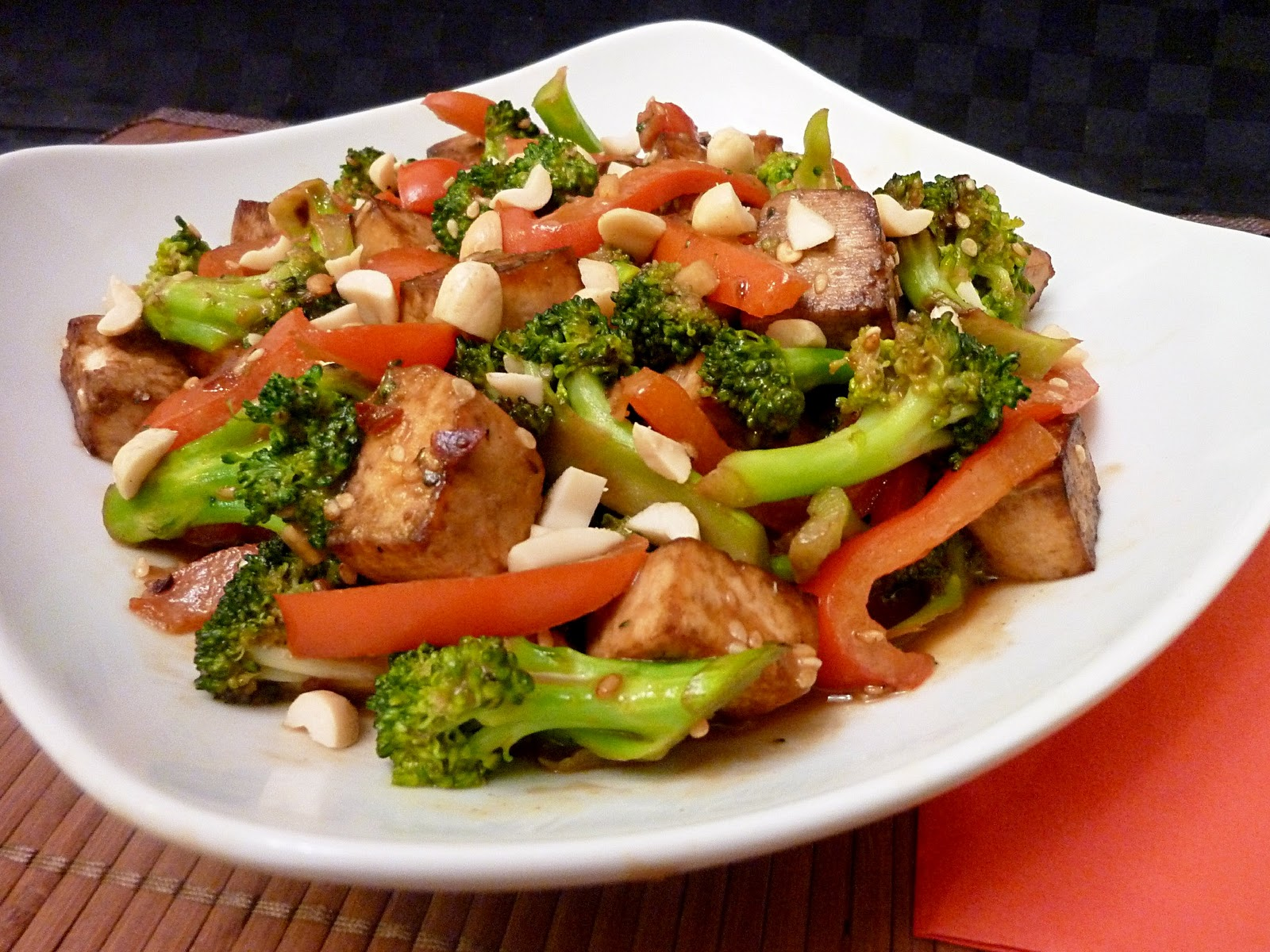curry tofu stir fry broccoli tofu stir fry with brown rice stir fried ...