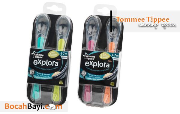 Tommee Tippee Explora First Weaning Spoons. Sendok Tommee Tippee, Sendok Silikon