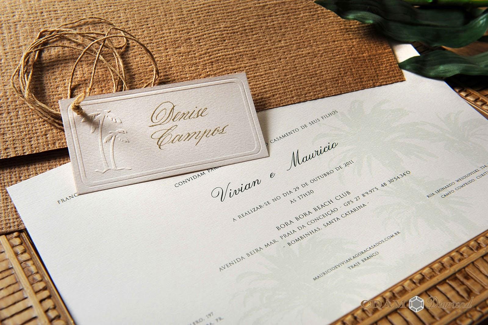 Muito Noiva com Classe: Convites de Casamento na Praia - Marítimo: modelos MB87