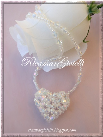 Puffy Crystal Heart (4mm Bicones)