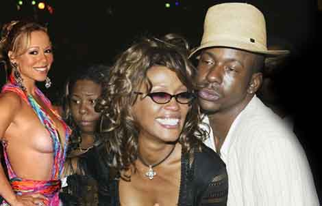 Whitney and Bobby Brown