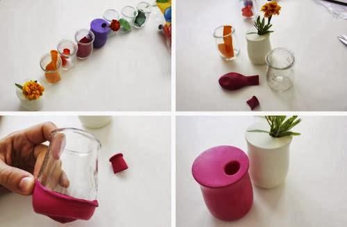 florero de reciclaje