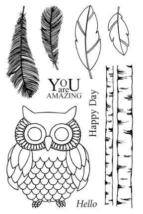 SRM Stickers Blog - Jane's Doodles Clear Stamps - #stamps #stickers #owl