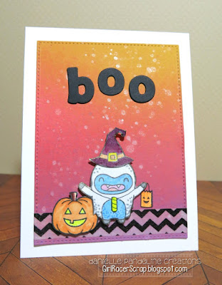 Yeti Boo | Lawn Fawn Stamps | Created by Danielle Pandeline
