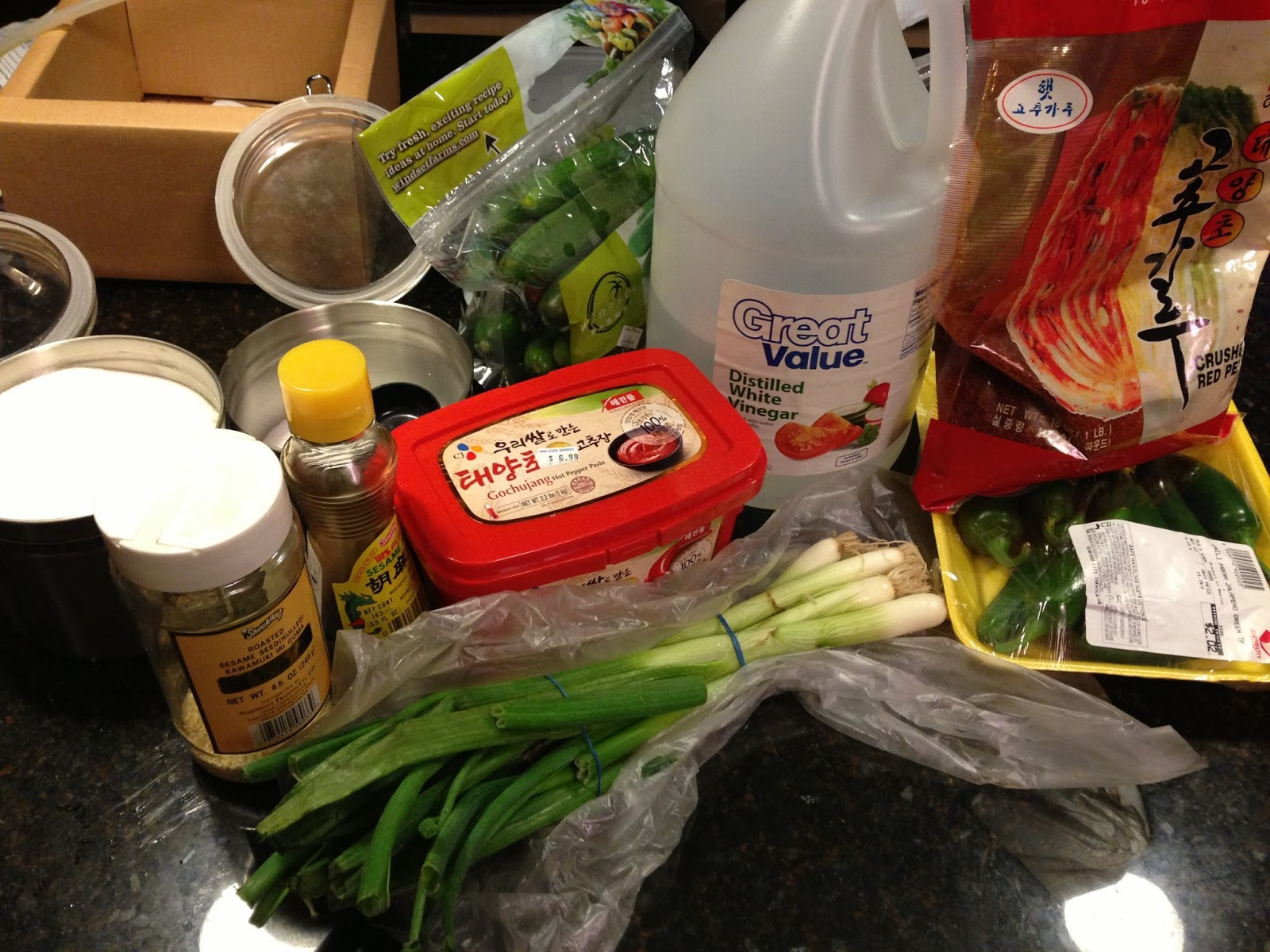 Korean cucumber salad ingredients