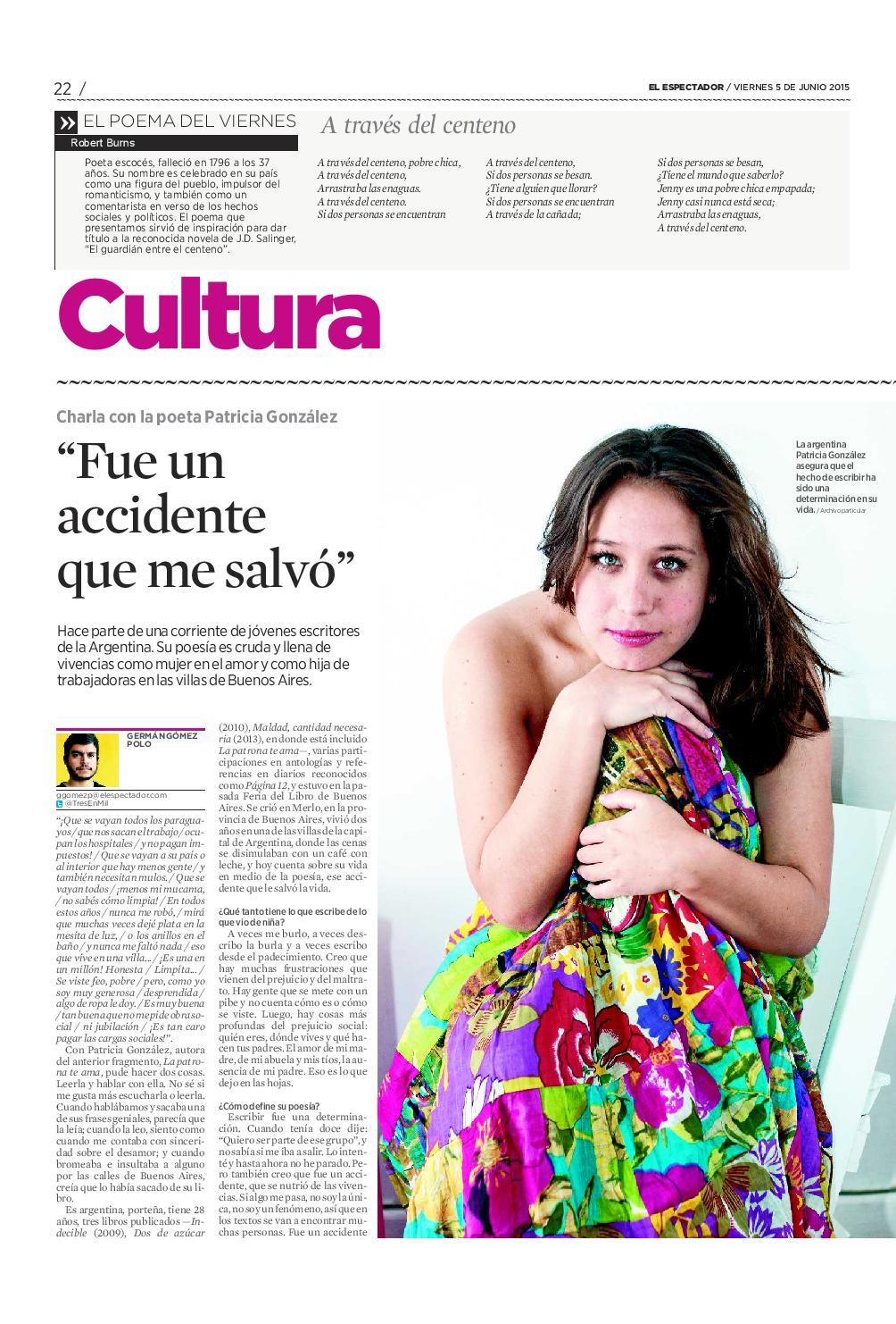 Entrevista en El espectador, Colombia