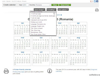 Generator calendar - TimeAndDate.com - stil calendar